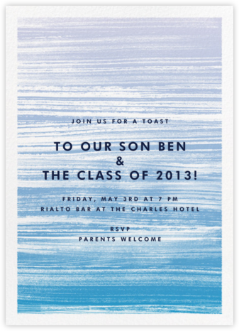 Gradient Messy Strokes - Blue - Paperless Post - Celebration invitations