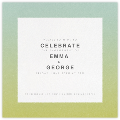 Gradient Border - Green - Paperless Post - Engagement party invitations