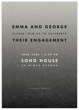 Gradient Full - Black - Paperless Post - Engagement party invitations