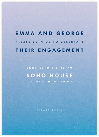 Gradient Full - Blue - Paperless Post - Engagement party invitations