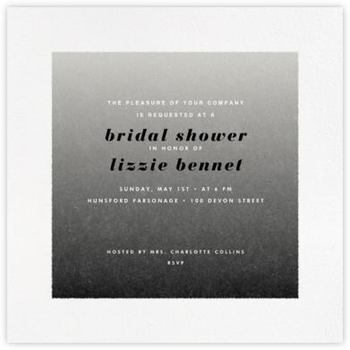 Gradient White Border - Black - Paperless Post -