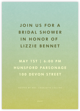 Gradient Full - Green - Paperless Post - Bridal shower invitations