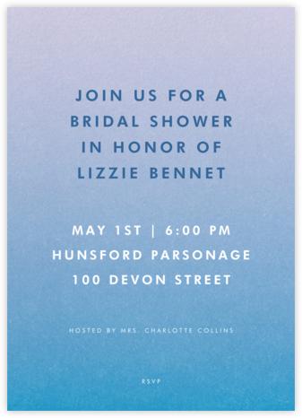 Gradient Full - Blue - Paperless Post - Bridal shower invitations