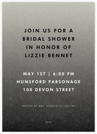 Gradient Full - Black - Paperless Post - Bridal shower invitations