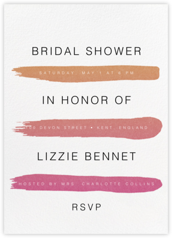 Gradient Brush Strokes - Pink - Paperless Post - Bridal shower invitations