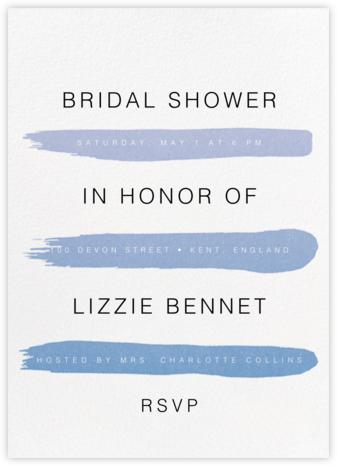Gradient Brush Strokes - Blue - Paperless Post - Bridal shower invitations