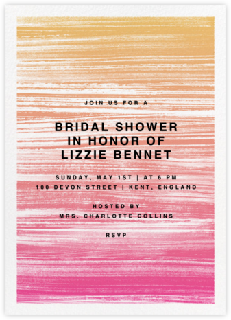Gradient Messy Strokes - Pink - Paperless Post - Bridal shower invitations