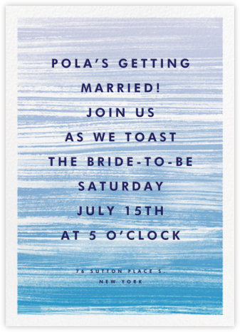 Gradient Messy Strokes - Blue - Paperless Post - Bridal shower invitations
