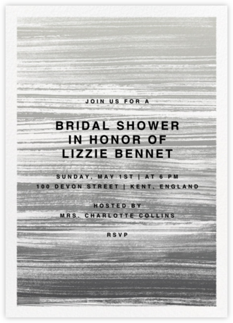 Gradient Messy Strokes - Black - Paperless Post - Bridal shower invitations