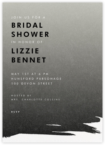 Gradient Painted - Black - Paperless Post - Bridal shower invitations