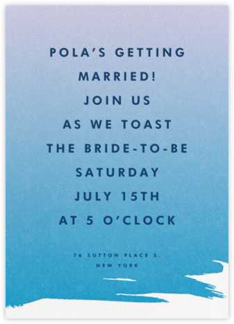 Gradient Painted - Blue - Paperless Post - Bridal shower invitations