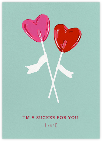 Suckers - Hannah Berman - Valentine's day cards