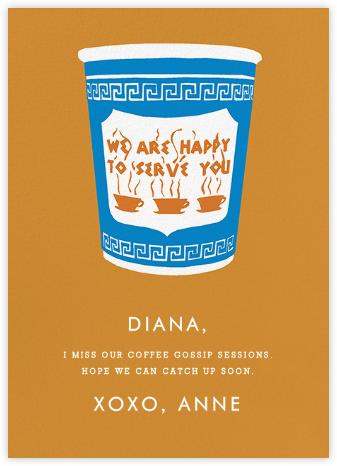 Greek Coffee - Hannah Berman - Just Because Cards