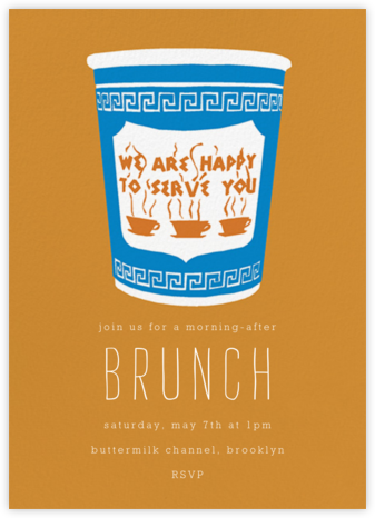 Greek Coffee - Hannah Berman - Brunch invitations