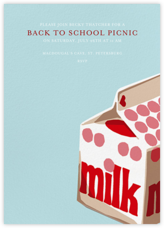Whole Milk - Hannah Berman - Back-to-school invitations