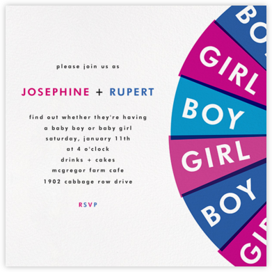 Gender Reveal of Fortune - Paperless Post - Baby shower invitations
