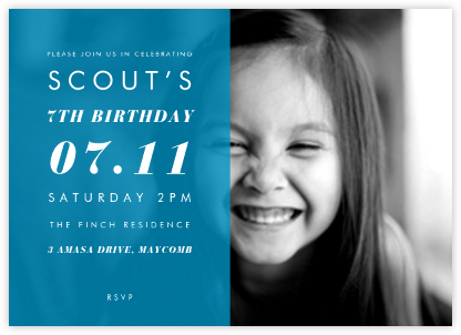 Horizontal Split - Cyan - Paperless Post - Birthday invitations