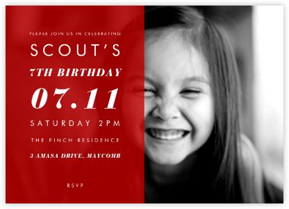 Horizontal Split - Red - Paperless Post - Online Kids' Birthday Invitations