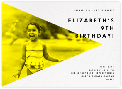 Side Photo Triangle - Paperless Post - Kids' Birthday Invitations