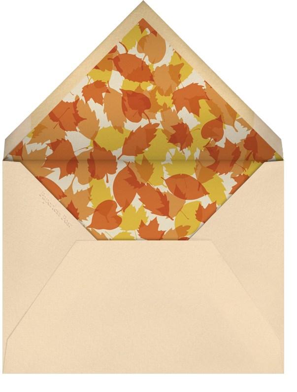 Rake It In - Paperless Post - Autumn entertaining - envelope back