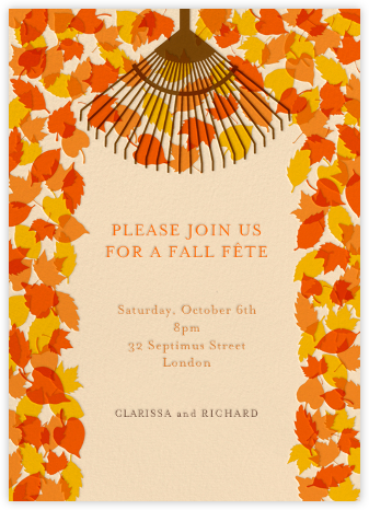 Rake It In - Paperless Post - Autumn entertaining invitations
