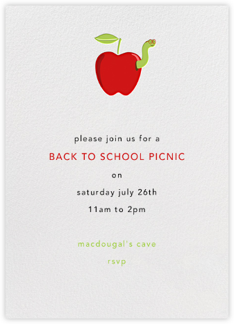 Smart Worm - Paperless Post - Back-to-school invitations