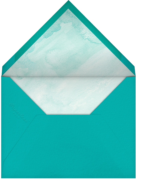 Color Wash (Stationery) - Persian Green - Paperless Post - Personal Stationery - envelope back