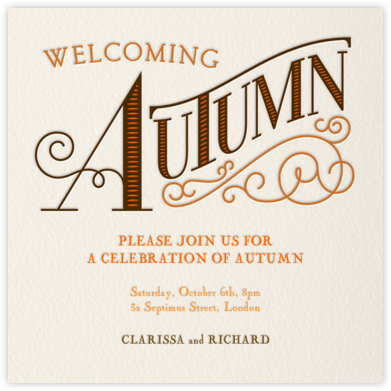 Welcoming Autumn - Paperless Post - Invitations