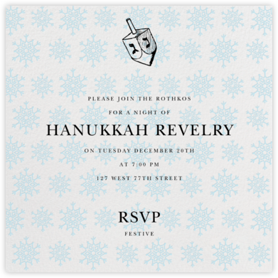 Snowflake Pattern - Ivory - Paperless Post - Online Party Invitations