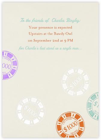 Vegas Bachelor Party - Cream - Paperless Post -