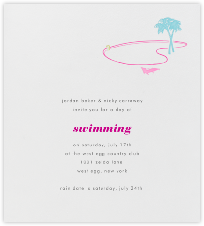 Vegas - Vegas Beach And Pool (Ivory) - Paperless Post - Pool Party Invitations