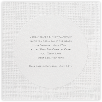 Linen - Blind Embossed Square - Paperless Post - Summer entertaining invitations