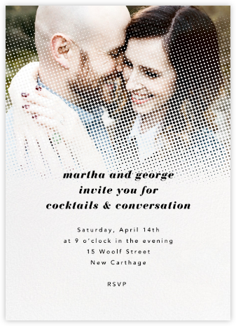 Halftone - Paperless Post - Online Party Invitations
