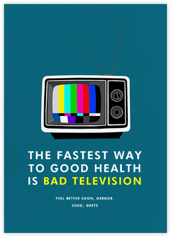 Bad Television - Hannah Berman - Get well cards