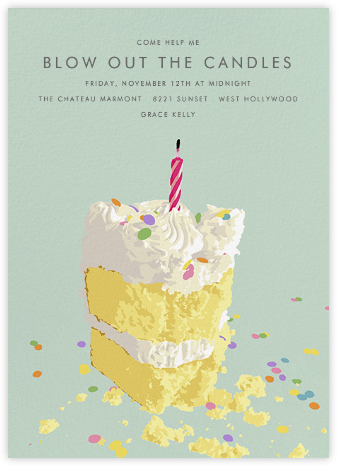 Eaten Cake - Hannah Berman - Adult birthday invitations