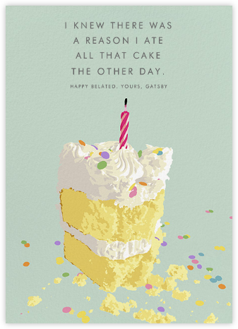 Belated Birthday Cards Online At Paperless Post