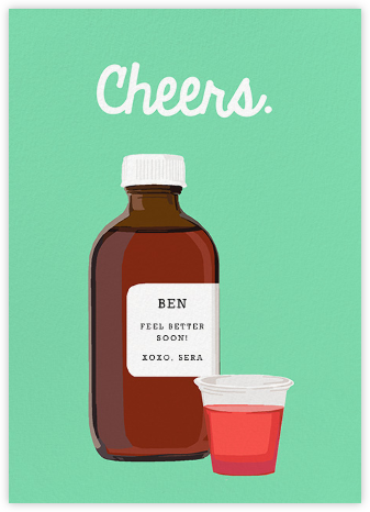 Cough Syrup - Hannah Berman - Get well cards