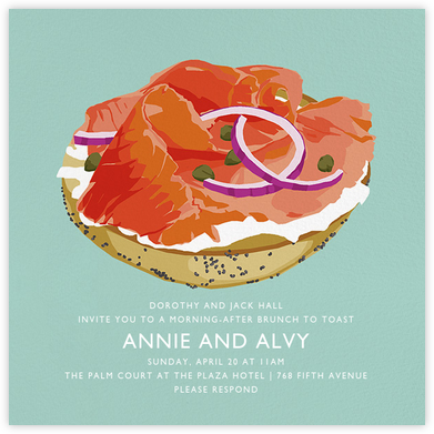 Lox Bagel - Hannah Berman - Wedding Weekend Invitations