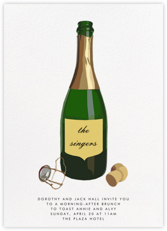 Pop the Bubbly - Hannah Berman - Wedding Weekend Invitations