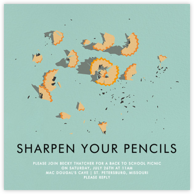 Pencil Shaving - Hannah Berman - Back-to-school invitations