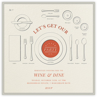 Eats and Etiquette - Derek Blasberg - Dinner party invitations