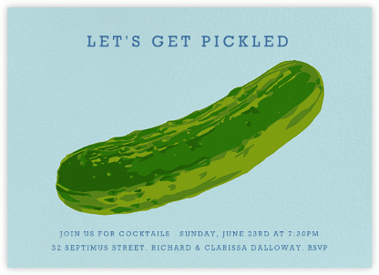 In a Pickle - Hannah Berman - Happy hour invitations