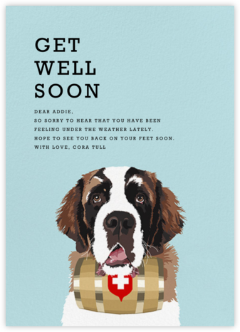 Saint Bernard - Hannah Berman - Get well cards