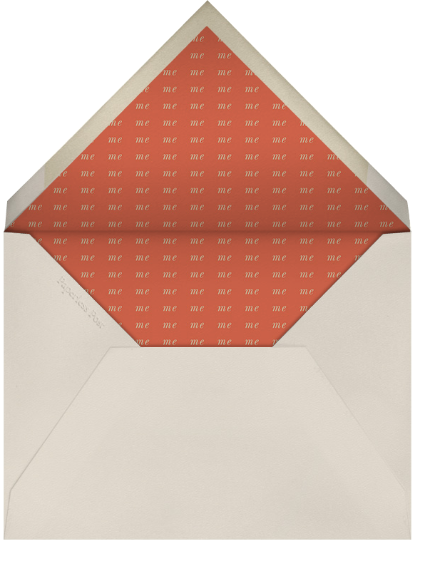 Thinking of You. For Once. - Derek Blasberg - Funny valentines - envelope back
