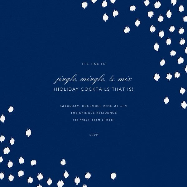 Ikat Dot (Square) - Dark Blue - Oscar de la Renta - Company holiday party