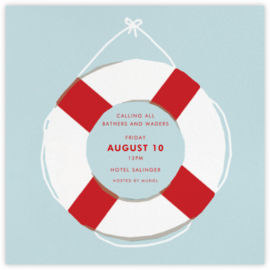 Life Preserver - Hannah Berman - Summer Party Invitations