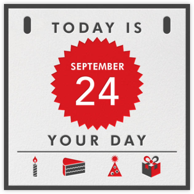 Today Is - Your Birthday - Paperless Post - Birthday Cards for Him