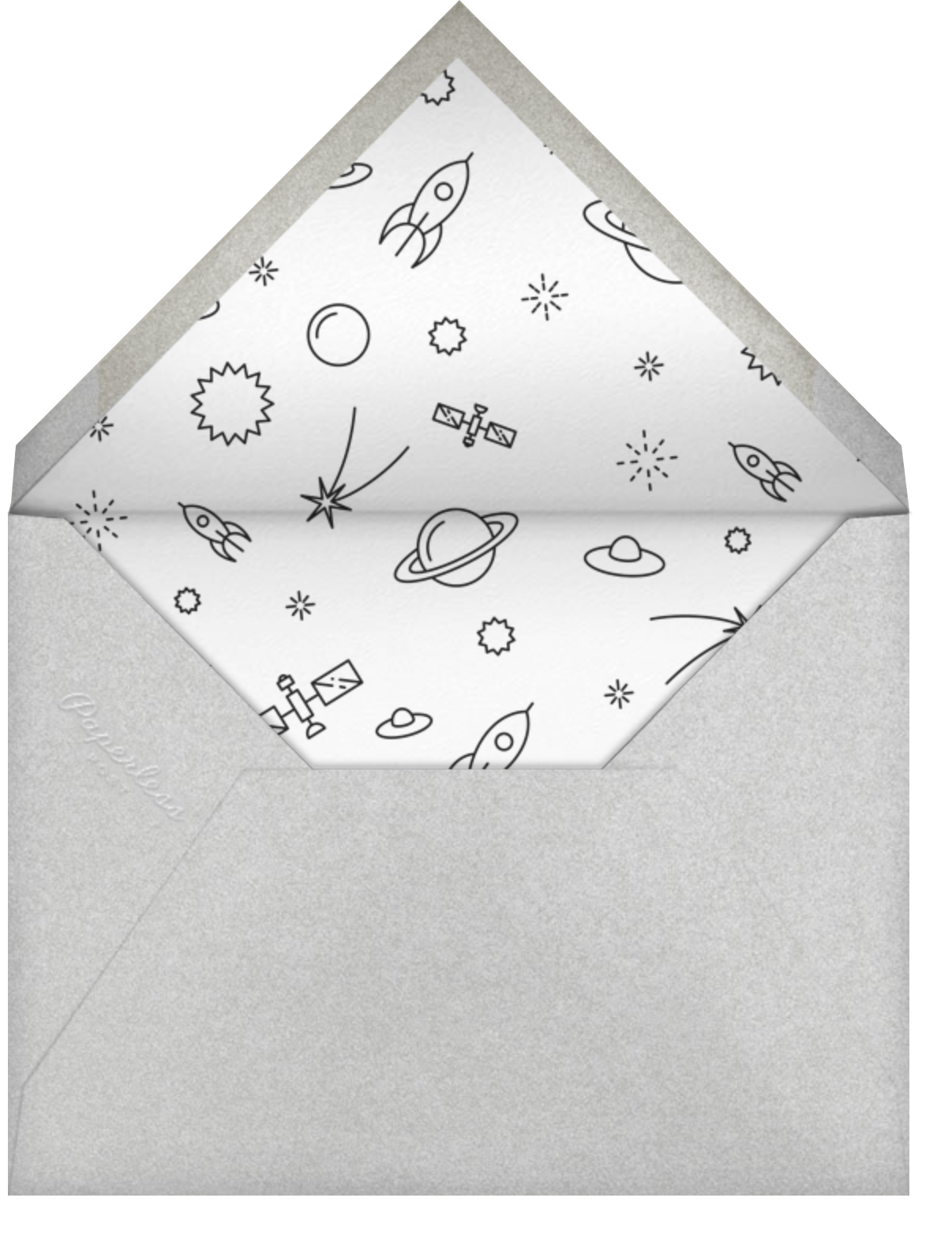 Solar System - Paperless Post - Birthday - envelope back