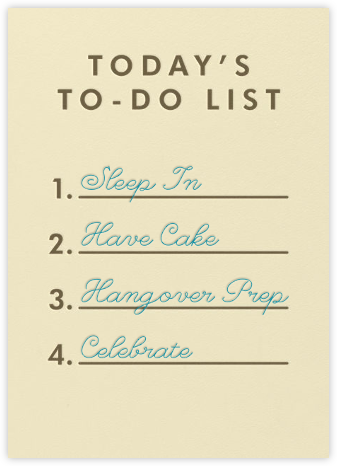 To-Do List - Paperless Post - Birthday cards