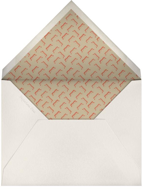 True Love Chart - Derek Blasberg - Engagement party - envelope back